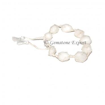 White Agate Tumbled Bracelet