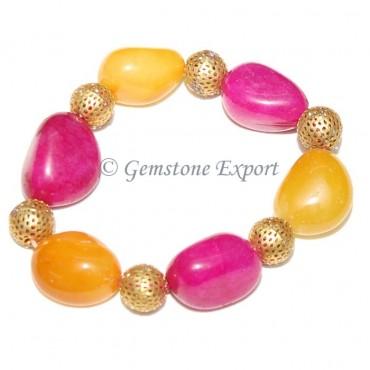 Mix Agate Dyed Stones  Bracelet