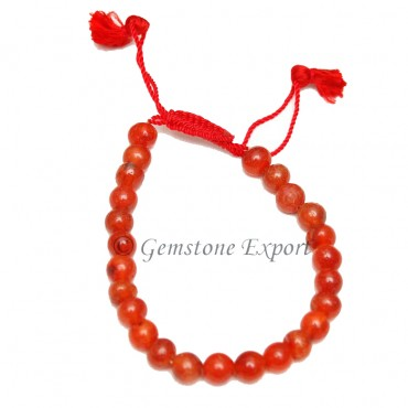 Carnelian Round  Bracelet