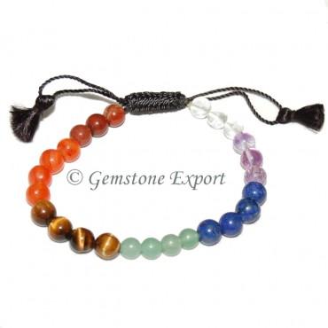 Seven Chakra Round Bracelets