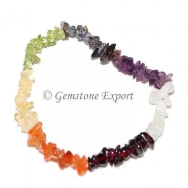 Chakra Stone Chips  Bracelets