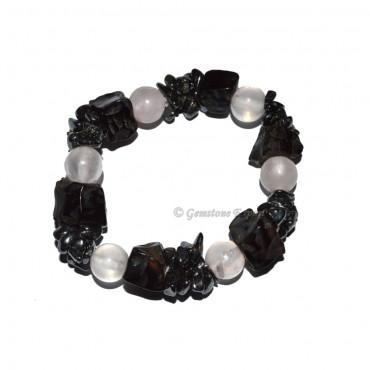 Black and Rose Quartz Healing Bracelets