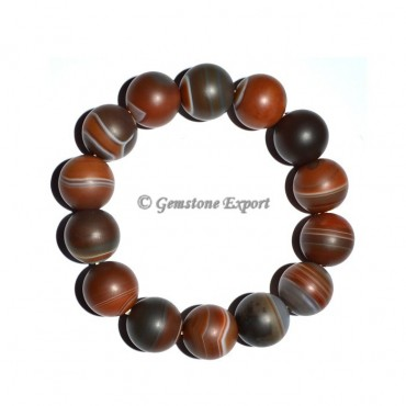 Red Onyx Banded Round Bracelets