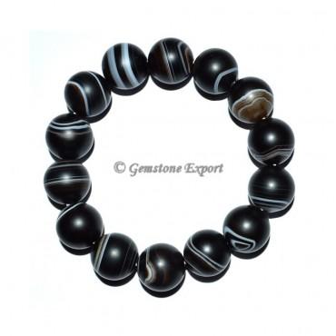 Black Onyx Banded Round Bracelets