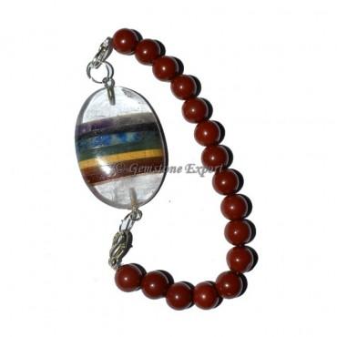 Red Jasper Chakra Oval Bracelets
