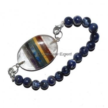 Sodalite Chakra Oval Bracelets