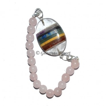 Rose Quartz Chakra Oval Bracelets