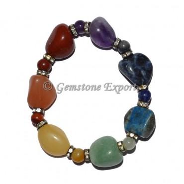 Chakra Tumbled and Chakra Beads Bracelets
