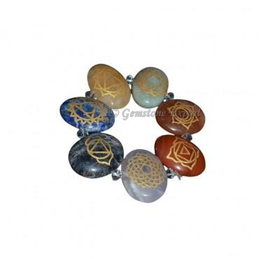 Engraved Chakra Oval Bracelets