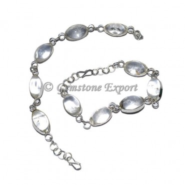 Crystal Quartz Lingam Bracelets