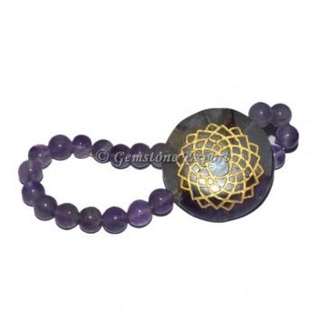 Amethyst Crown Chakra Bracelet