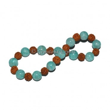 Amazonite With Rudraksha Bracelet