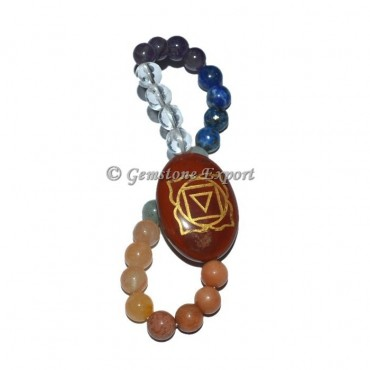 Root Chakra With Quartz Stone Bracelet