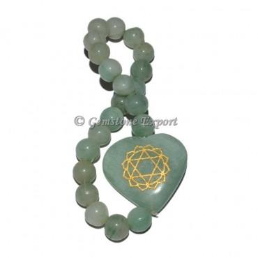 Green Seven Chakra Heart Bracelet