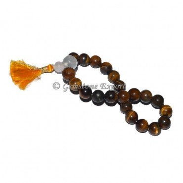Tiger Eye With Crystal Quartz Bracelet