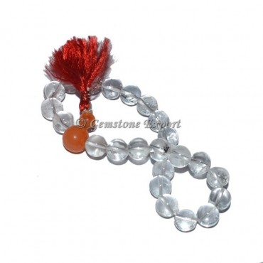 Crystal Quartz With Carnelian Bracelets