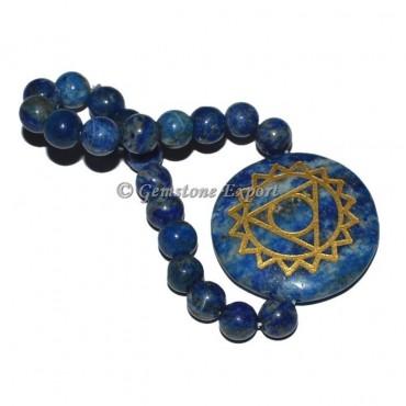 Lapis Lazuli Throat Round Disc Bracelet