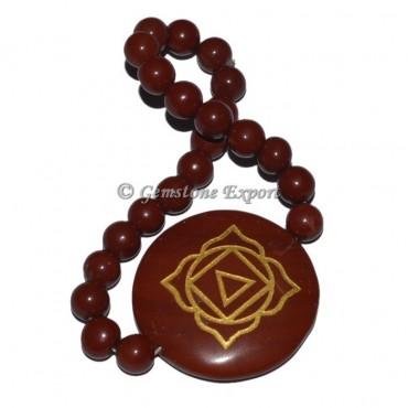 Root Chakra Red Jasper Disc Bracelet