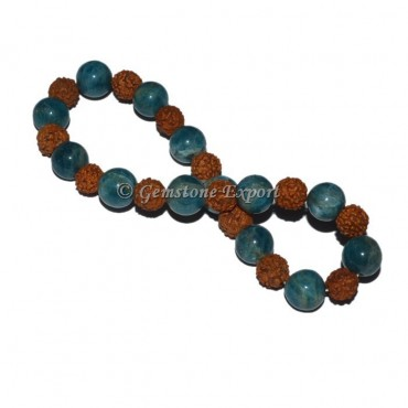 Kyanite With Rudraksha Bracelet