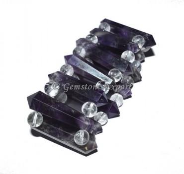 Amethyst Stone Acupuncher Bracelet