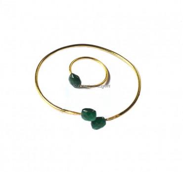 Green Onyx Bracelet With Ring