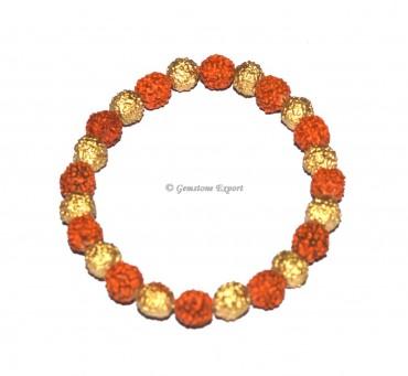Rudraksha With Brass Healing Bracelet