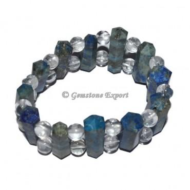 Lapis Lazuli with Crystal Quartz Bracelets