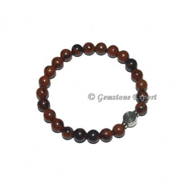 Chokoreiki Charm Mahagoni Obsidian Bracelets