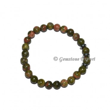 Round Charm Unakite Bracelets