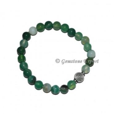 Choko ReikI Charm Green Agate Bracelets