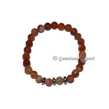 Round Charm Red Onyx Bracelets