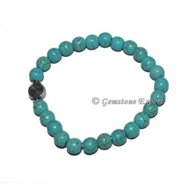 Choko Reiki Charm Synthetic Turquoise Bracelets