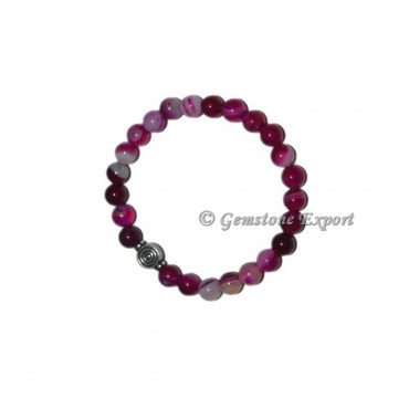 Choko Reiki Charm Pink Onyx Bracelets