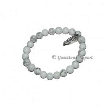 Owl Charm White Howlite Bracelets