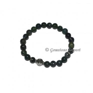 ChokoReiki Charm Green Moss Agate Bracelets