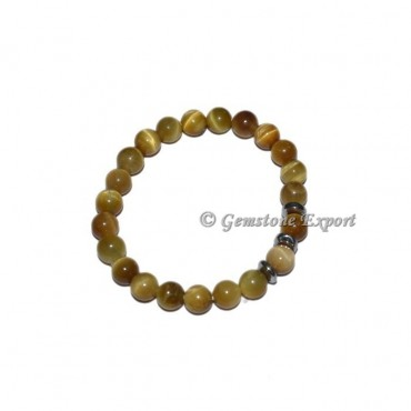 Round Charm Lemon Tiger Eye Bracelets