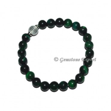 ChokoReiki Charm Green Tiger Eye Bracelets