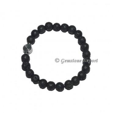 ChokoReiki Charm Black Lava Stone Bracelets