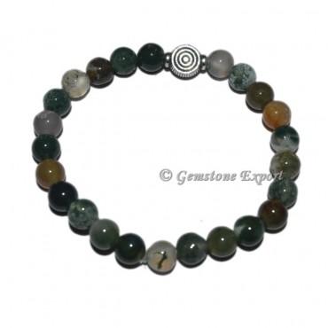Choko Reiki Charm Moss Agate Bracelets with