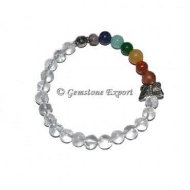 Crystal Quartz 7 Chakra With Choko Reiki & Butterfly Bracelets