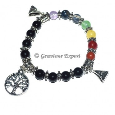 7 Chakra stone Healing Bracelets with tree of life
