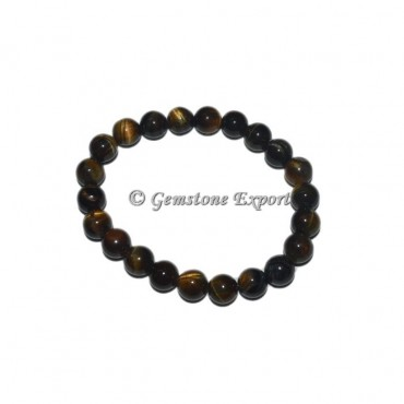 Yellow Tiger eye Gemstone Bracelets