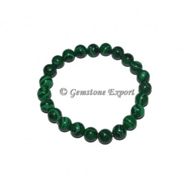 Synthetic Malachite Gemstone Bracelets