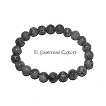 Black Zebra Gemstone Bracelets