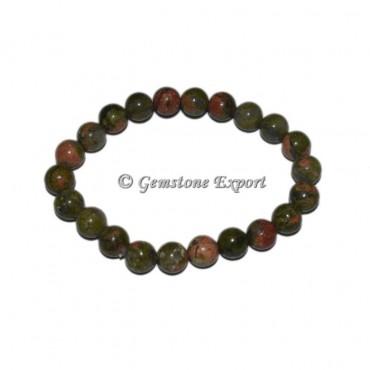 Unakite Gemstone Bracelets