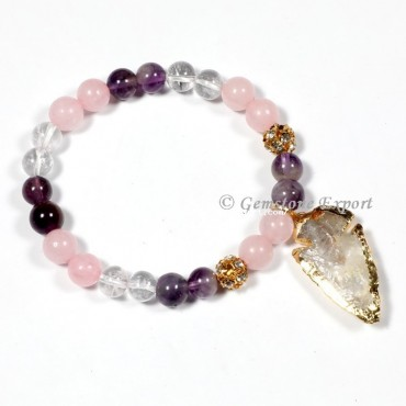 RAC Gemstone Bracelets With Arrowhead
