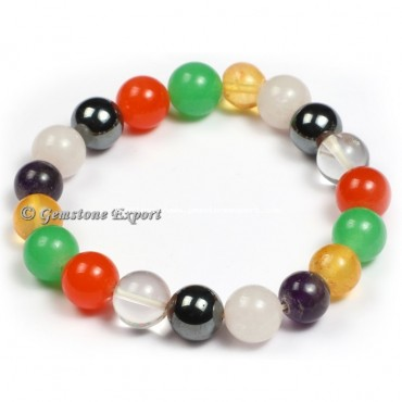 Mix Gemstone With Round Beats