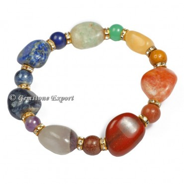 Mix Tumbled Gemstone Bracelets