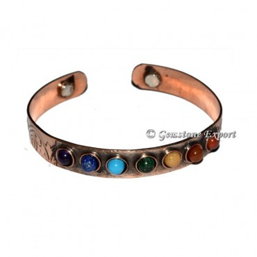 Brass Metal Bracelets With Seven Chakra