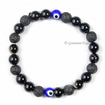 Combo Seven Chakra Bracelet With Evil Eye 2 Beads